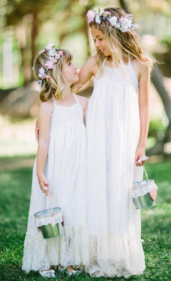 2019 New Flower Girl Dresses White Ivory Boho First Communion Dress For Girls A-Line Kids Birthday Dress Wedding Party Gown [sa] new original authentic spot rexroth buffer r412010370