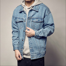 Large Size Men Ctton Denim Jackets Vintage Spliced Multi-Pockets Male Jean Coats Spring Autumn Cargo Coats And Jackets A3307