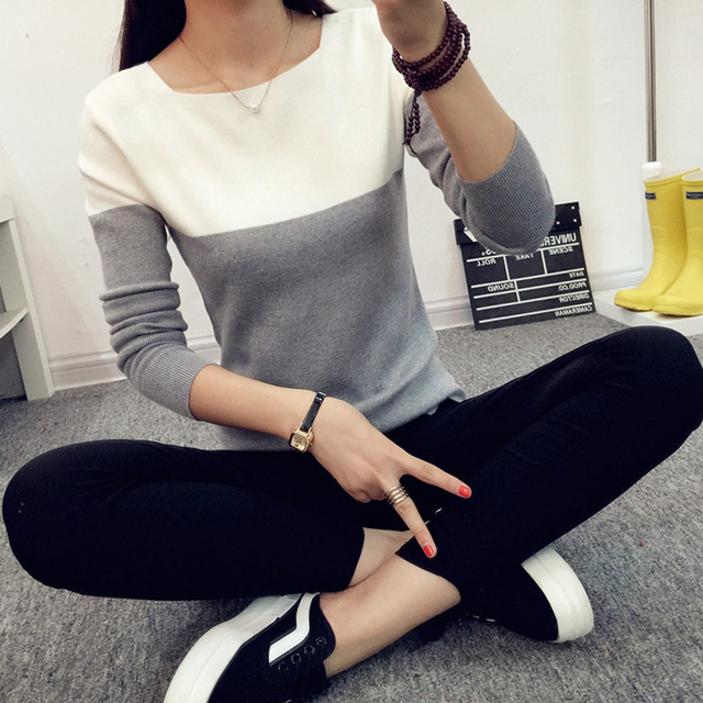 Elastic Lightweight Knit Jumper