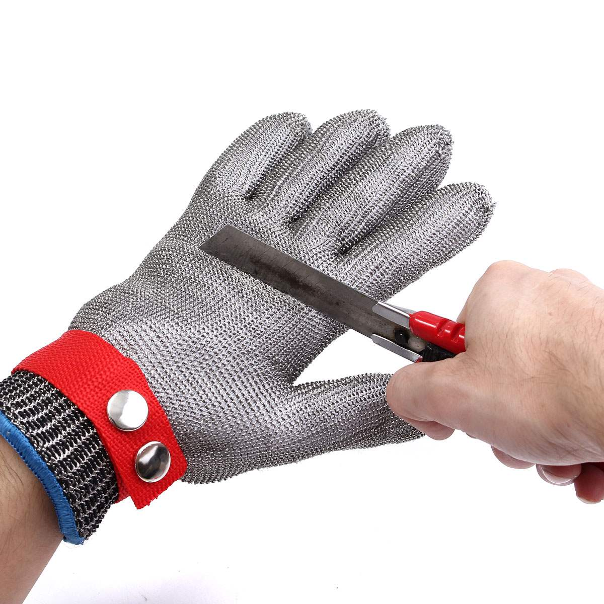 Safety Cut Proof Stab Resistant Stainless Steel Metal Mesh Gloves Grade 5 Protective Gloves top quality 304l stainless steel mesh knife cut resistant chain mail protective glove for kitchen butcher working safety