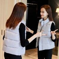 2017 Down Cotton Vest Female Autumn And Winter Short Design Waistcoat Bread Cotton Clothes Outerwear Vest
