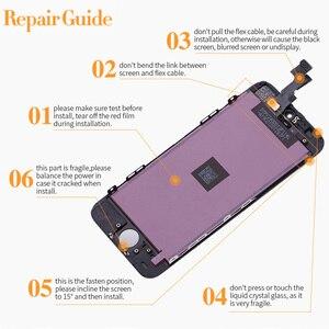 Image 4 - Pantalla LCD para iPhone 6, 7, 8 plus, X, digitalizador de pantalla táctil para iPhone 6S, 5 5S, SE, repuesto de montaje, calidad AAA ++