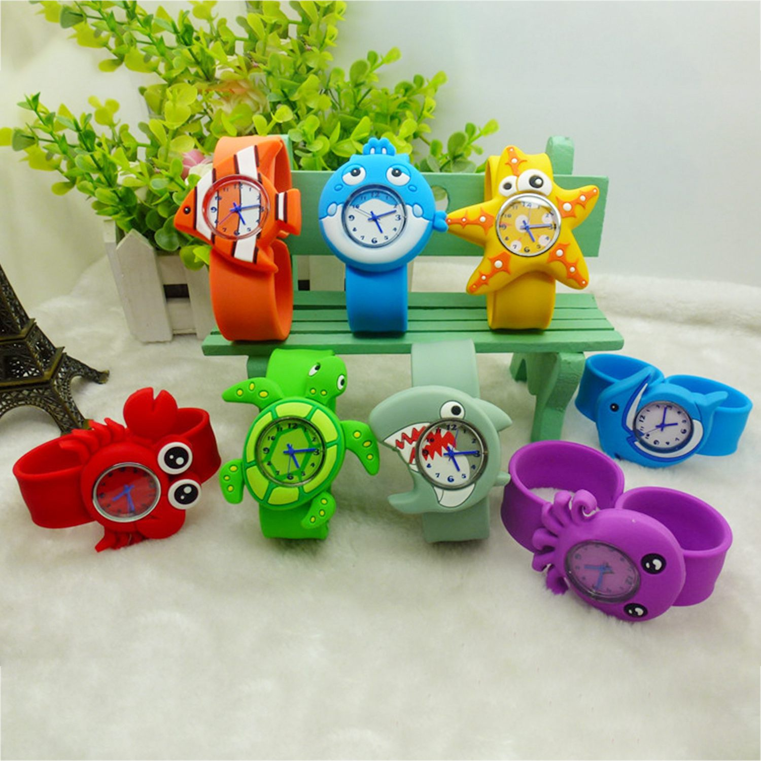 Children's Watches Cartoon Kids Wrist Baby Watch Clock Quartz Watches for  Gifts Relogio Montre crab
