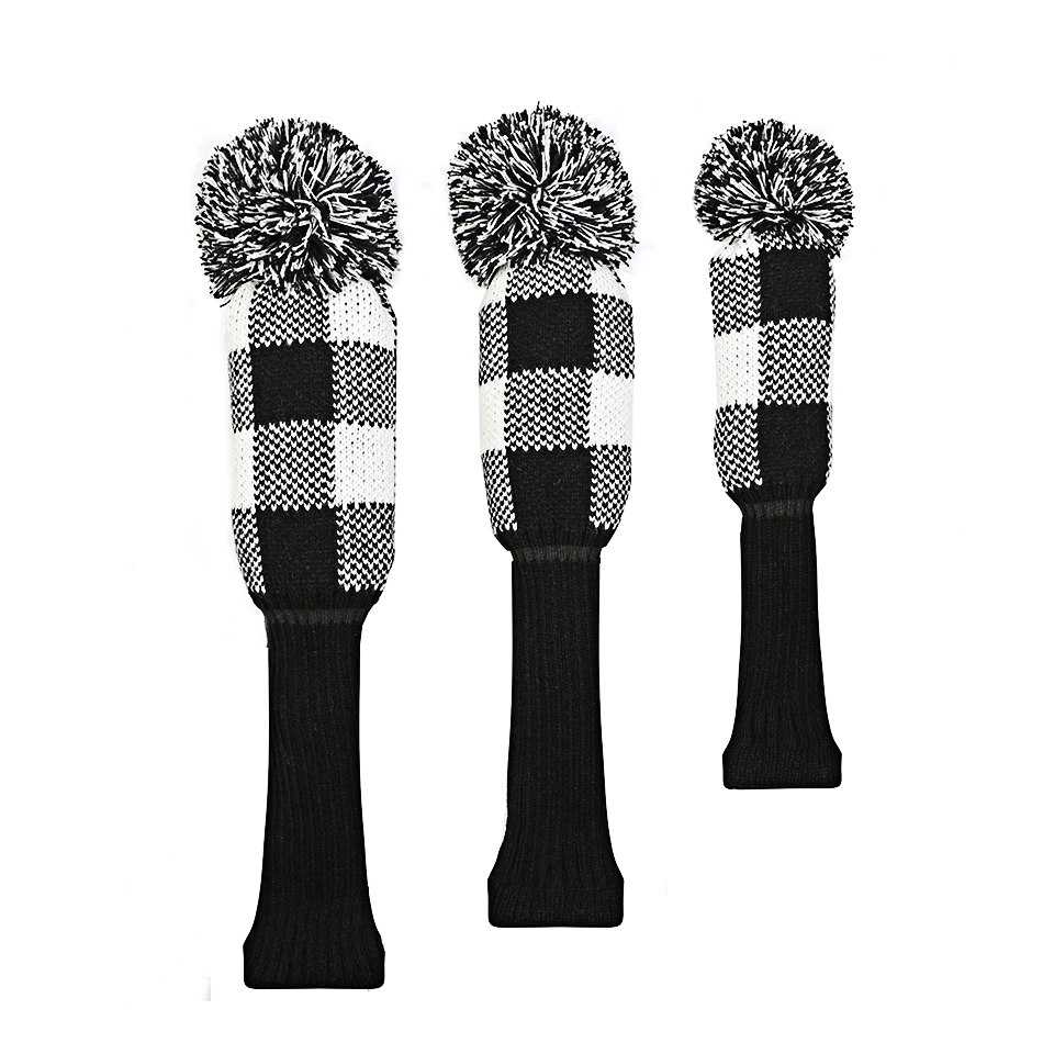Image 4 - golf clubs headcover lattice Knitting wool Fairway wood Headcover Golf Accessories 3pcs/set free shipping-in Golf Clubs from Sports & Entertainment