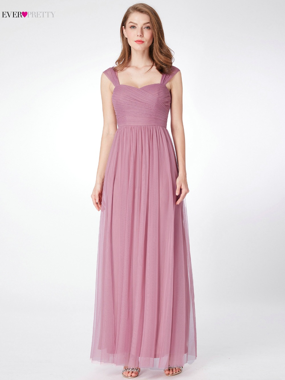 Ever Pretty Tulle Bridesmaid Dress for Wedding Party EP07304 A Line ...
