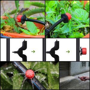 Image 4 - Set de rociadores de jardín con cabezal de microflujo cabezal de irrigación ajustable, gotero de agua, 100 unidades