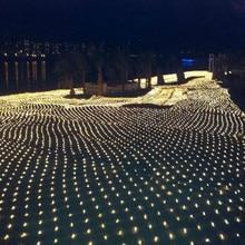 2 متر * 3m مصابيح LED شبكية 220 فولت الزفاف الديكور عيد الميلاد الجنية سلسلة ضوء في الهواء الطلق عطلة مهرجان متعددة في الهواء الطلق مصباح الحديقة