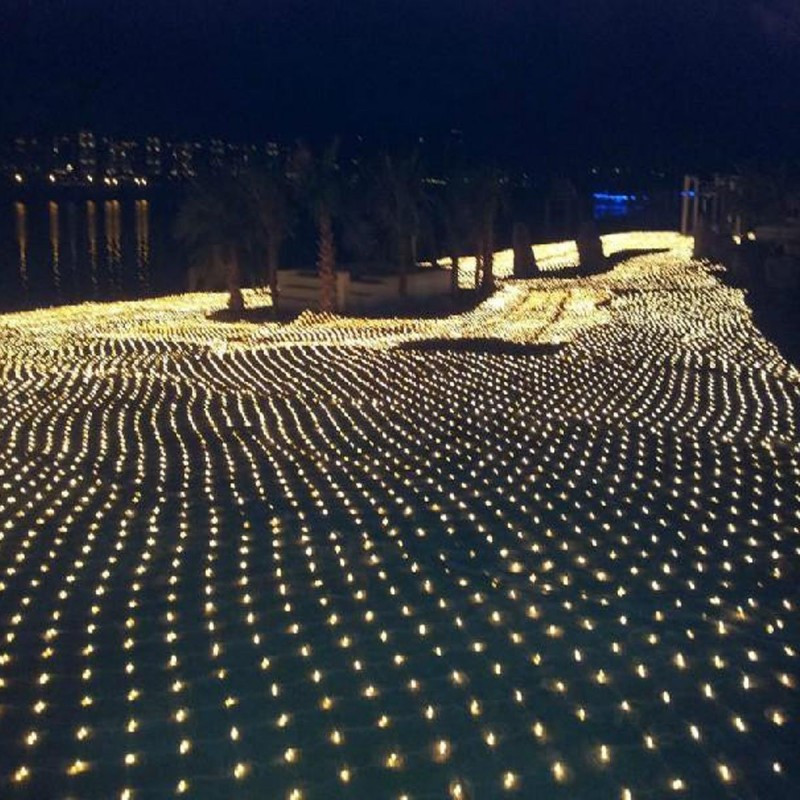 2M*3M Led Net Lights 220V Wedding Decoration Christmas Fairy String Light Outdoor Holiday Festival Multi Outdoor Garden Lamp