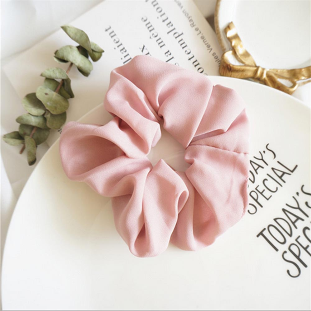 Lady Hair Scrunchies Ring Elastic Hair Bands Pure Color Bobble ...