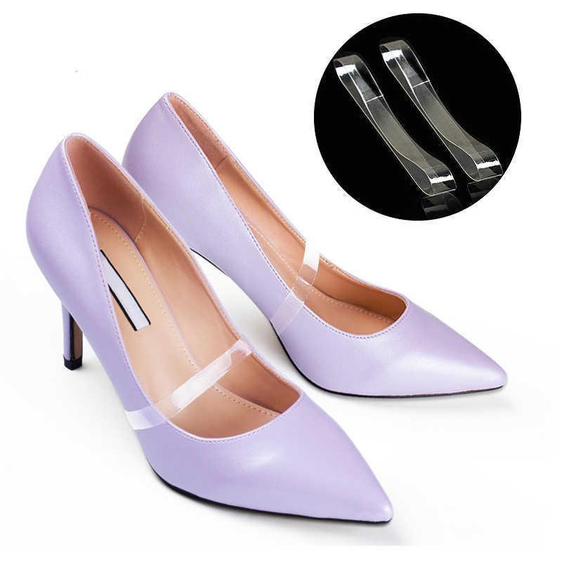 BSAID1 Cặp Đàn Hồi Vô Hình Dây Giày Phụ Nữ Giày Silicone Mềm Dây Giày Dây Đeo Cao Gót Giày Trong Suốt Ren Phụ Kiện