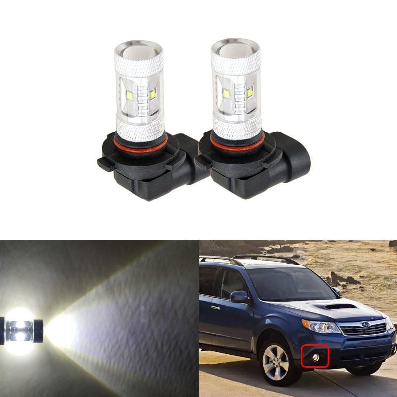 6500K Xenon White Led Light Bulbs For Car DRL Fog Driving Lamp Lights Replacement Bulbs For Subaru Forester Impreza Outback Baja
