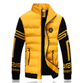 Warm Fashion Cotton Down Winter Jacket Men Knitted Sleeve Casual Men Winter Coat Plus Size 3XL 4XL 5XL