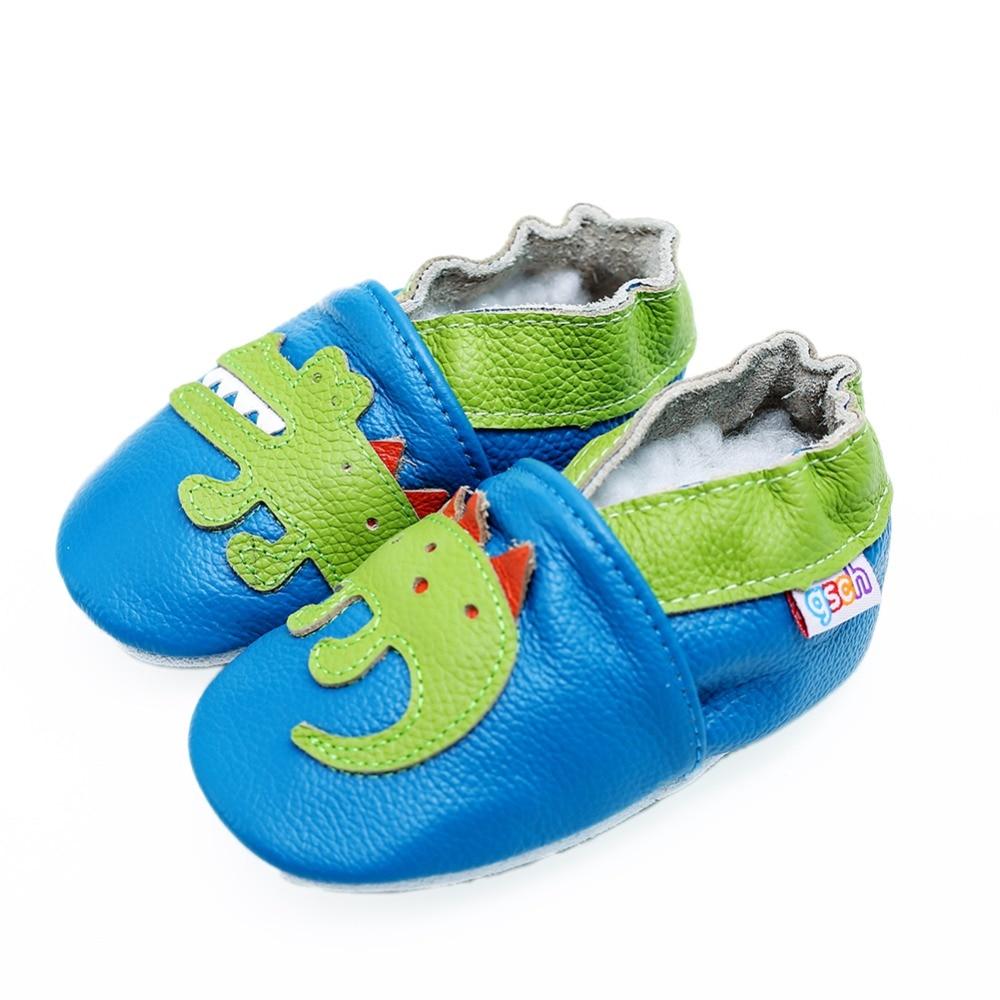 Детские тапочки gsch для мальчиков для ползания обувь для младенцев и малышей мягкая кожаная замшевая подошва Мокасины для первых прогулок Н...