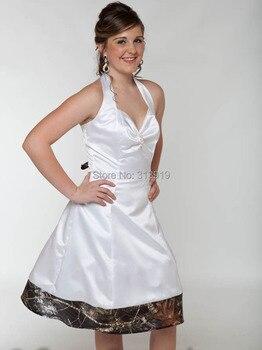 free shipping  lady halter short camo trimmed formal  party dresses  2017 new styles vestido de festa