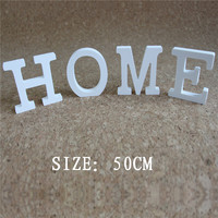 newest 50cm Artificial Wood Wooden Letters White Alphabet for Wedding Photo Props Birthday Party Home Decorations gift