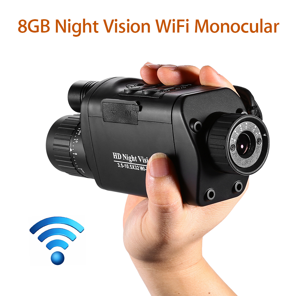 BOBLOV 5x32 Monocular Night Vision Digital 1280*720 WIFI IOS Android App compatible Infrared Night Vision Goggles Camera hunting-in Night Visions from Sports & Entertainment