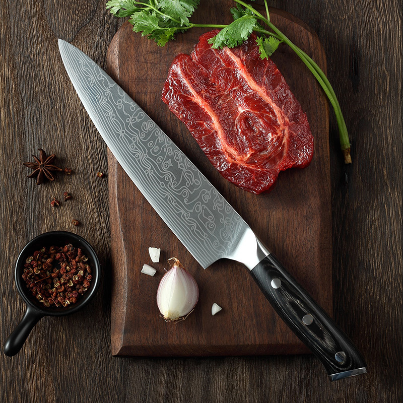 asipartan professional kitchen knives chef knife 8 inch