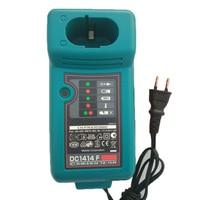 Used Electric Drill Screwdriver Accessory DC1414 Ni cd Ni mh Battery Charger For Makita 7.2V 9.6V 12V 14.4V 18V Battery Serise