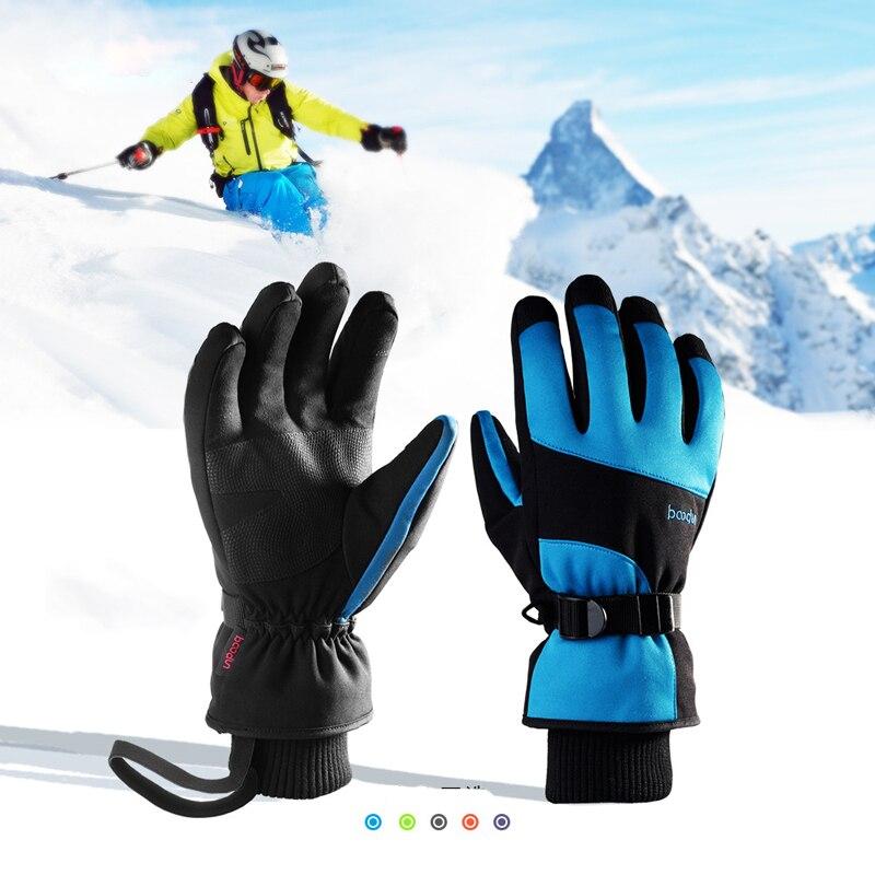 Écran tactile gants de Ski femmes hommes Sports de plein air motoneige Snowboard neige gants imperméable chaud Skis gant hiver Ski gant