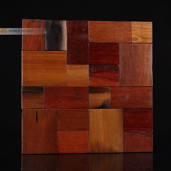 Versand Kostenlos!! Natürliche Holz Wand Mosaik Fliesen, Block Design,  Netzeinsatz Für Badezimmer Dusche Wandfliesen Kamin In Versand Kostenlos!!  Natürliche ...