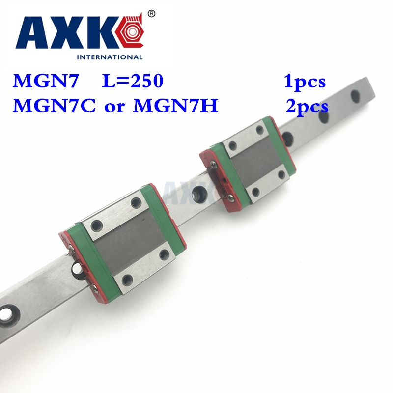 Steel Ball Bearing Bearing New Miniature Linear Guide Mgn7 L 250mm Guideway + 2pcs Mgn7C or  Mgn7H Long Blocks Carriage toothed belt drive motorized stepper motor precision guide rail manufacturer guideway