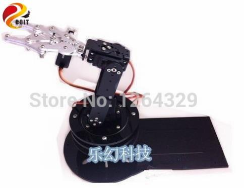 DOIT 4dof bras Robot + griffe mécanique + 4 pièces Servos à couple élevé (engrenage en métal) + grande Base en métal + plaque acrylique plus épaisse