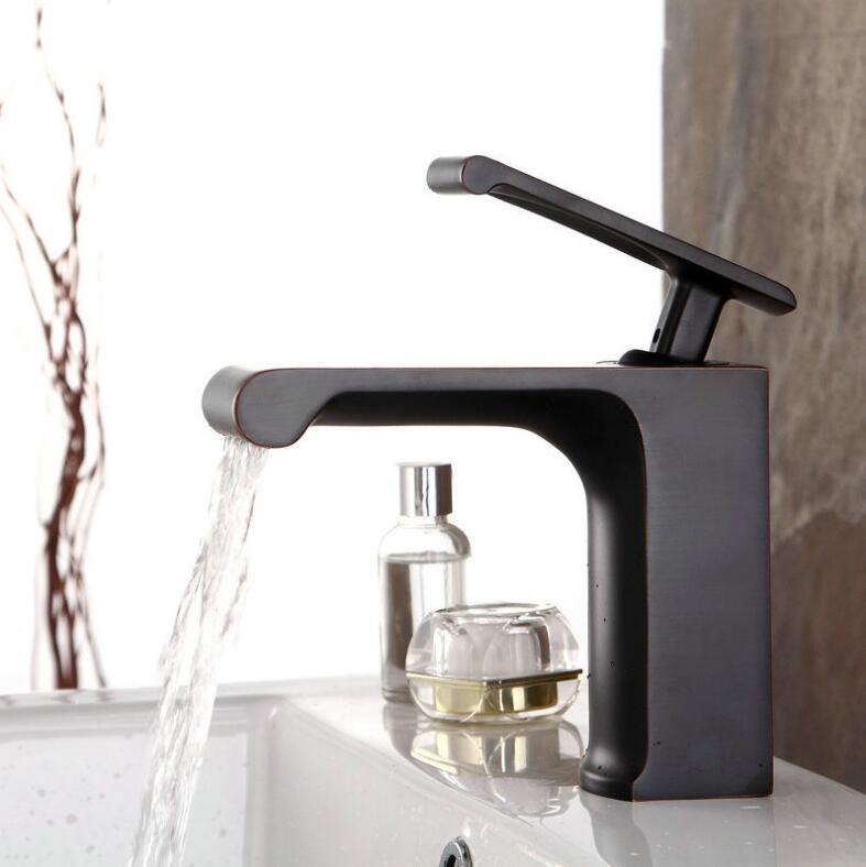 new high quality brass material ORB finish single lever bathroom single lever water fall sink tap basin faucet free shipping new design high quality brass material single lever basin faucet
