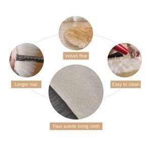 Image 4 - Sofá decorativo de imitación de lana para el hogar, cojín de salón europeo, alfombras de cuero de oveja, dormitorio, cabecera, ventana, cojín de pelo largo