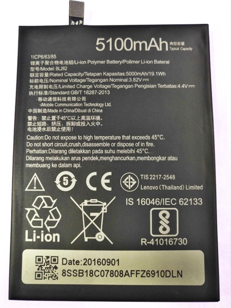 BL262 Battery For Lenovo Vibe P2 P2C72 P2A42 Battery 5000mAh