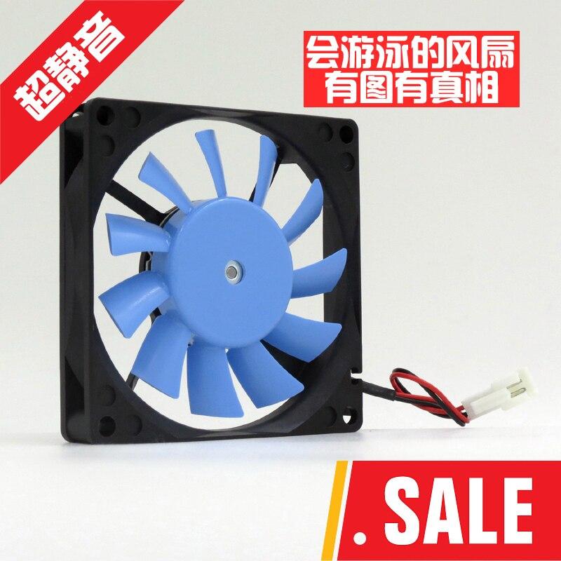 12 V étanche ventilateur FBA08J14L 8015 8 cm châssis ultra ventilateur silencieux