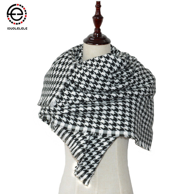 IDUOLELELE  Big size Winter Scarves & Wraps women Tartan Plaid Cashmere fashion Scarfs Pashmina Wholesale