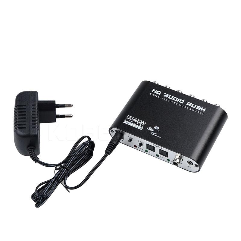 Image 5 - Kebidumei Digital Audio Decoder 5.1 Audio Stereo DTS SPDIF Digital Audio Converter for XBOX360 PS3 Laptop Blue ray DVDdigital audio decoder5.1 audiodecoder 5.1 -