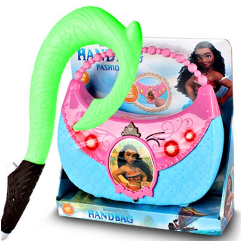 40CM Moana Maui Magic Weapon Fish Hook With Light Action Figure PVC Statue Ver Model Decoration Toy H411