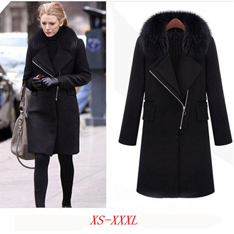 Images of Long Black Winter Coat - Reikian