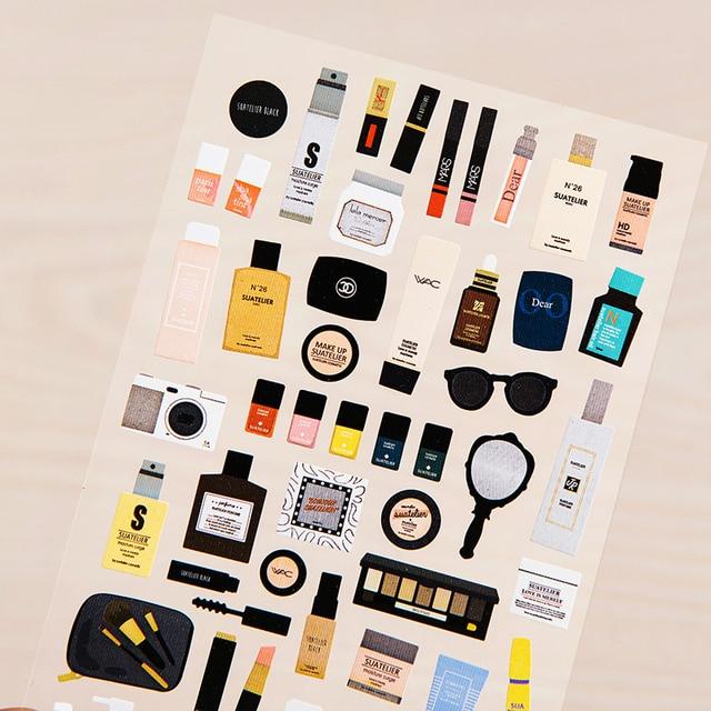 190100mm desain kosmetik kertas adhesive sticker diy rumah dekorasi label tag tas 1