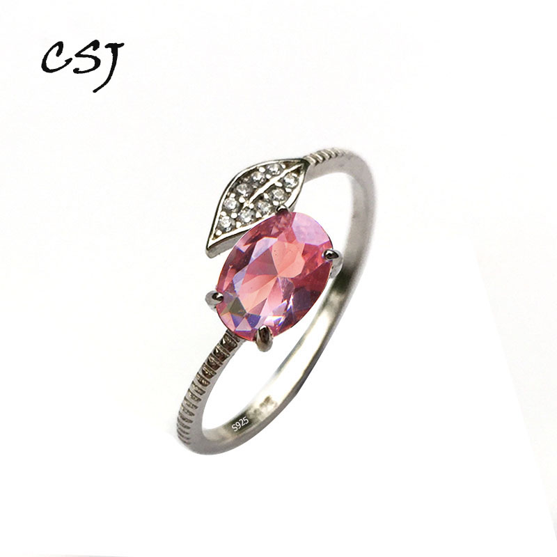 CSJ Oval 5*7mm Zultanite Change Color Small Ring Sterling 925 Silver Created Sultanite Fine Jewelry Women Wedding Party Gift Box