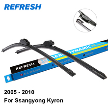 "REFRESH Wiper Blades for Ssangyong Kyron 22""&19"" Fit Hook Arms 2005 2006 2007 2008 2009 2010"