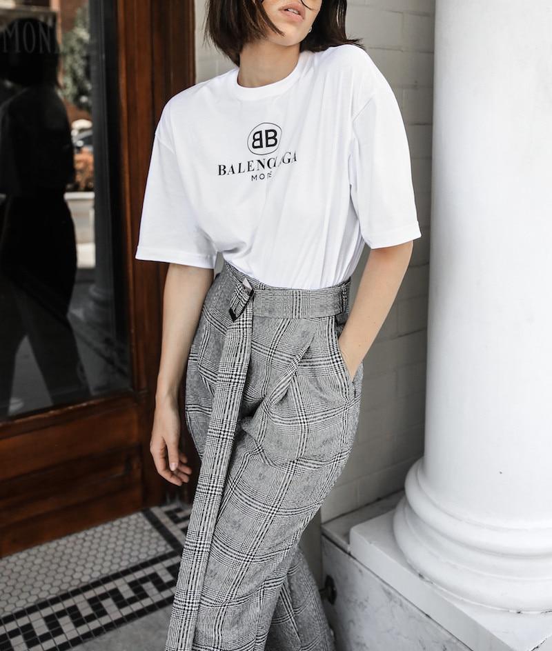 AEL Western-style Radish Pants Women Long Waistband Fashion Slim Lattice Femme Clothing Summer Thin 2018