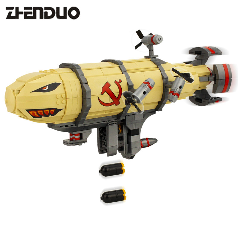 KAZI 81017 Games Red Alert 3 Kirov Airship Kids Model Toys Building Blocks Brick Educational Model Toy for Children 3d puzzles metal jigsaw silver children educational games diy for children toys teaser games for kids scale 1 72
