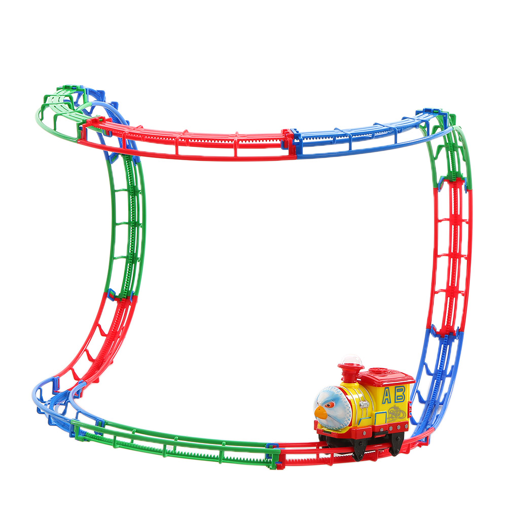 new rail car track racer racing car popular kids toys electric track battery powered diy toy vehicles set for children gift