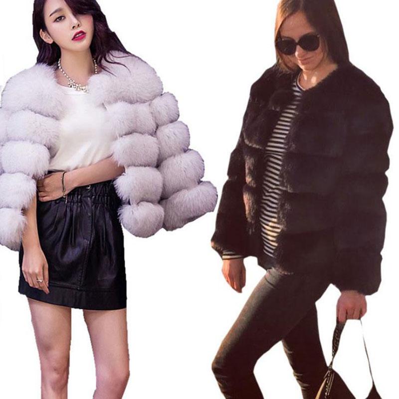 Fourrure noir De Chaud Épais vert Renard Survêtement Mode Pardessus À Top La Vêtements Qualité Manteau Veste Blanc D'hiver Argent gris Femmes qfFrq4