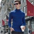 Мужчины Зима Марка Slim Fit Свитер Полный Рукавом Сплошной Цвет Кардиган Пуловеры Мужской Свитер Тянуть Homme Hombre Sweader A2242