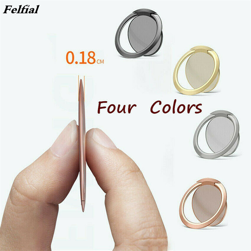 Ultra Thin Phone Ring Finger Socket Stand 360 Rotation Metal Grip Ring Holder for iphone xiaomi