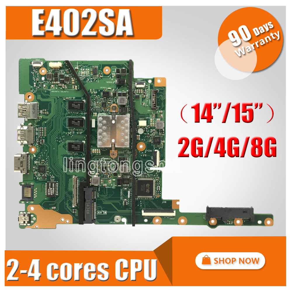 2G RAM N3050 CPU E402SA E502SA Laptop motherboard for ASUS E402SA E502SA E402S E502S E402 E502 Test original mianboard ноутбук asus e402sa 90nb0b62 m06100