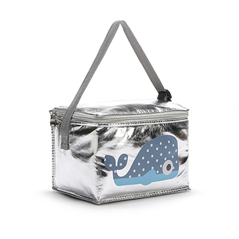 6 L Cartoon Animal Whale Honeybees Elephant Hedgehog Thermal Insulated Folding Cooler Bag Small Meal Lunch Picnic Bag