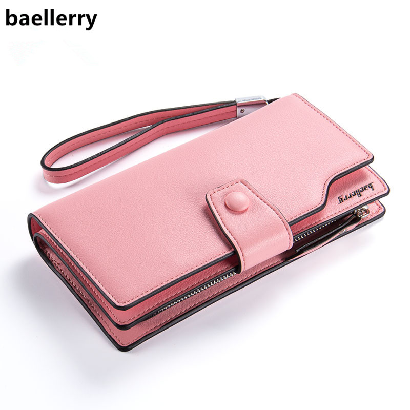 Baellerry Brand Wallet Women Pu Leather Wallet Female Multifunction Purse Long Big Capacity Card Holders Purse Carteras Mujer 2018 pu leather women wallet casual long wallet female handbags teenage girl purse coin purse card holders portefeuille femme