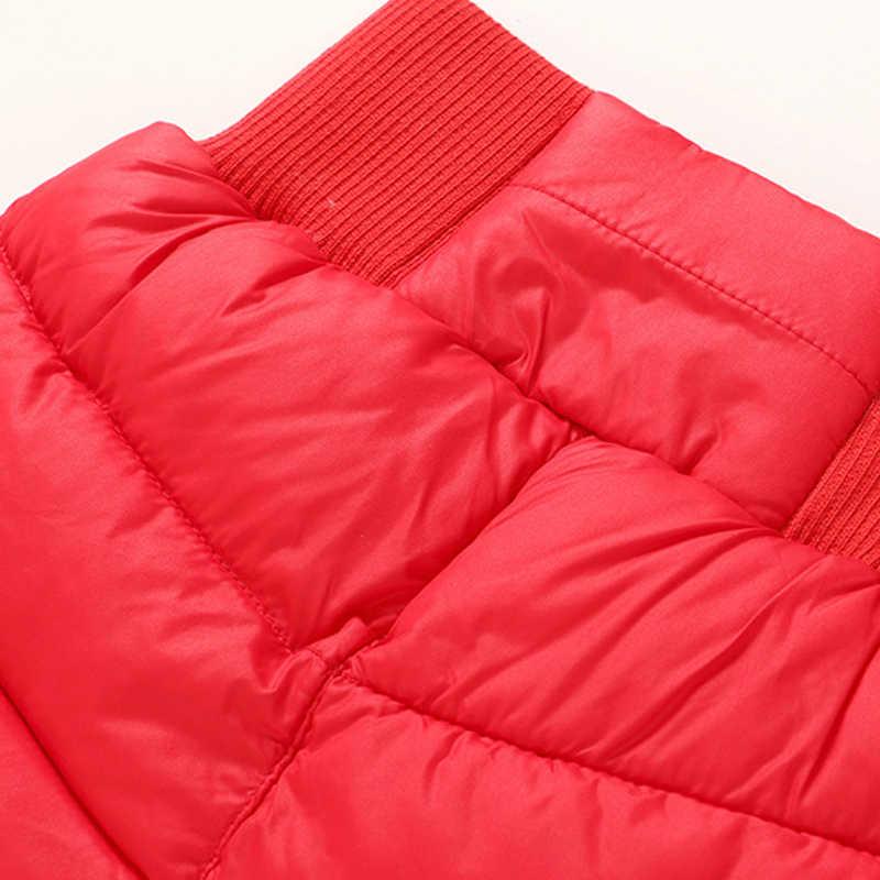 Spodnie dziecięce dla dziewczynek chłopcy długie spodnie zimowe zagęścić ciepłe dół dla dzieci jesień odzież wodoodporne spodnie śniegowe spodnie 3 4 7 8 lat