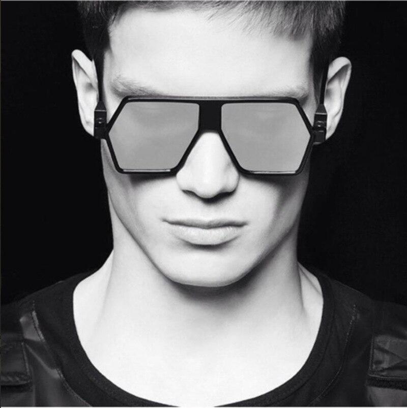 Men Fashion Trend Unique Shape Square Sunglasses Brand Designer Vintage Luxury Handsome Personality Sun Glasses UV400-Proof