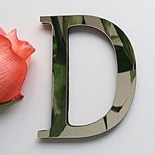 2017 new diy wall stickers 3d sticker acrylic decoration wedding gift love letters decorative Alphabet wall decor