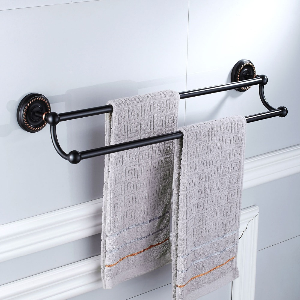 Copper black plating bath towel holder bathroom fixture - Bathroom accessories towel racks ...
